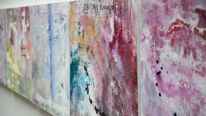 A closer look at the work of Ana Mihaere titled Intersectional Violence.
