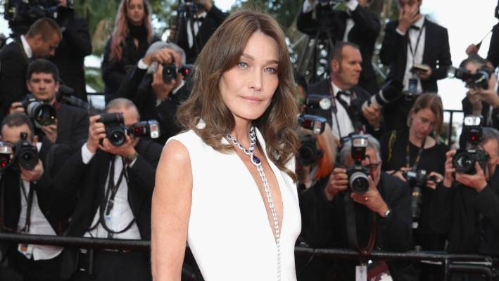 Carla Bruni, 51, certainly gives the lie to Moix's view of older women.