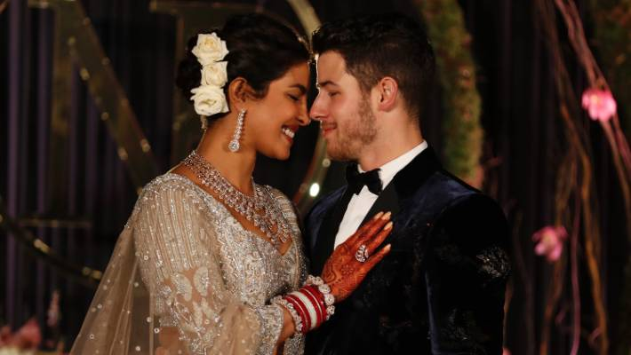 The happy couple Priyanka Chopra and Nick Jonas