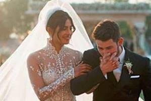 The happy couple: Priyanka Chopra and Nick Jonas.