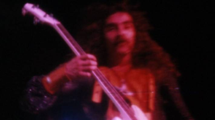 Black Sabbath played the 1973 Ngaruawahia Festival, above. But their support act Ticket weren't able to take the stage, after the lead singer woke up with a sore throat.