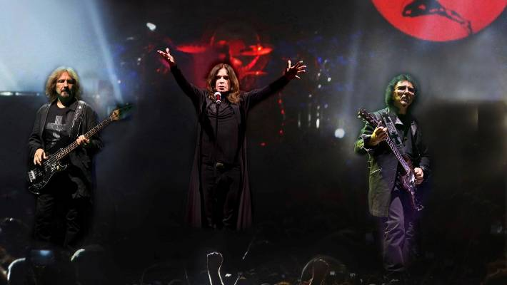 Black Sabbath featuring Ozzy Osbourne, centre. Ticket was to have supported Black Sabbath on a world tour – but it all went wrong.