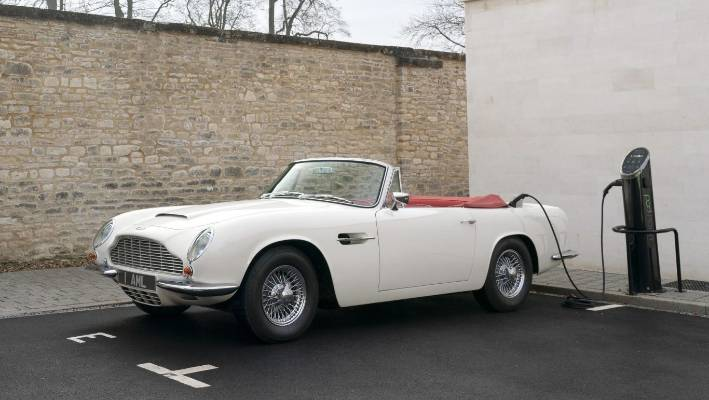 Aston Martin offers 'reversible' electric conversion for classic cars