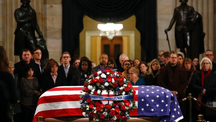 Late Us President George Hw Bush Celebrated As Last Great