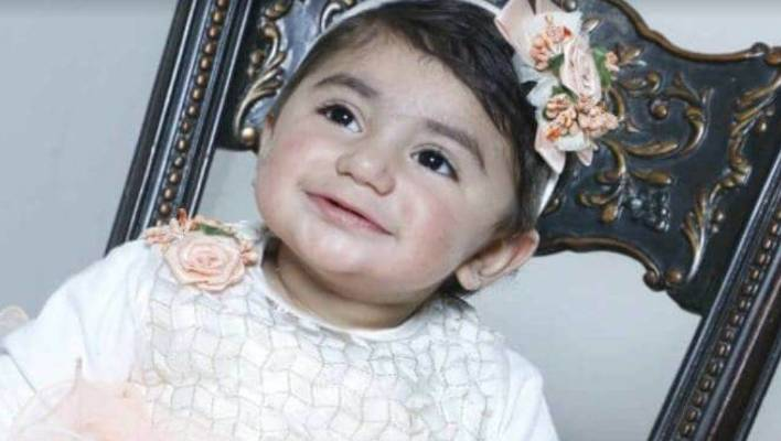 Toddler Zainab needs blood transfusions as chemotherapy liver tumor.
