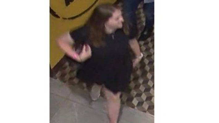 Grace Millane was captured on CCTV footage at Sky City in Auckland on December 1, wearing a black dress and white shoes