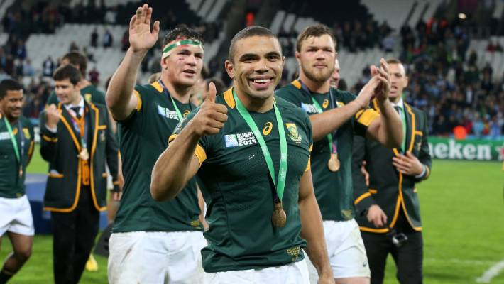 Springboks legend Bryan Habana after the bronze final match at the 2015 Rugby World Cup.