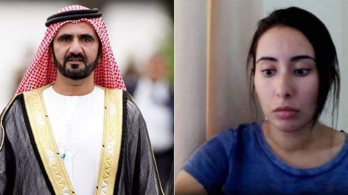 Sheikha Latifa, upright, the daughter of Dubai's leader, Sheikh Mohammed bin Rashid al-Maktoum, left, tried to flee the nation in March after complaining she used to be effectively being held prisoner by her repressive father.