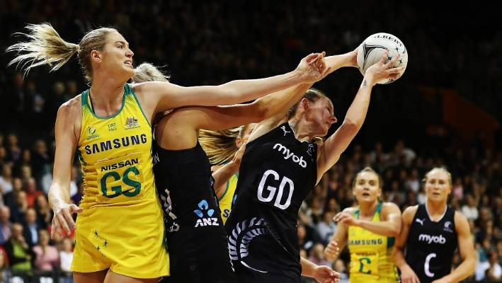 Caitlin Bassett's injury rules her out of the Australian Diamonds squad for the Quad Series in England.