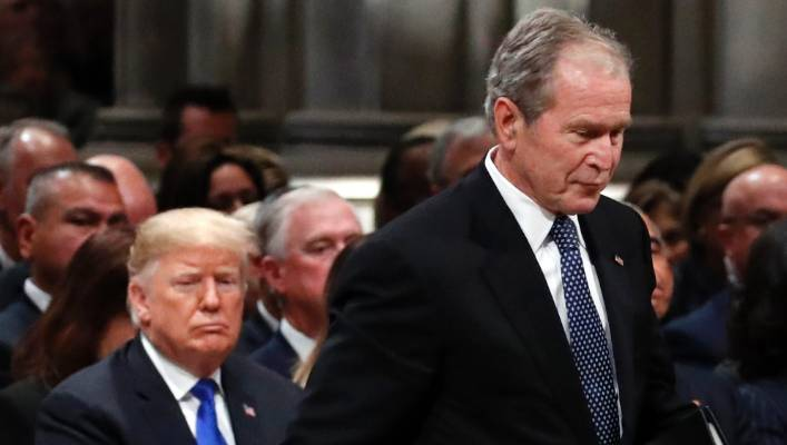 Former President George W Bush knew exactly what he was doing by opting not to exclude Trump from his funeral; he controlled the uncontrollable.