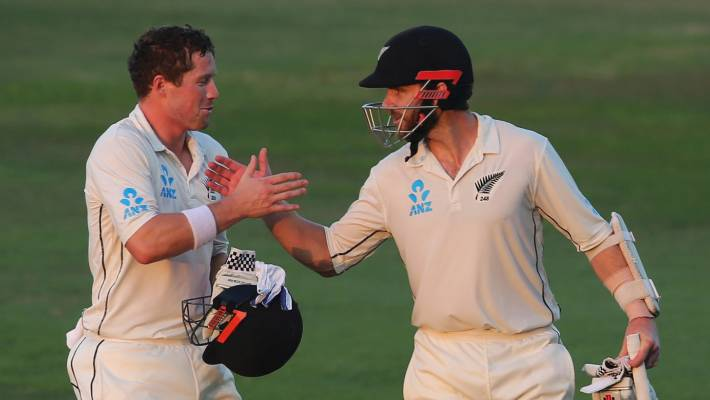 Henry Nicholls, left, and Kane Williamson both scored centuries in the second innings.