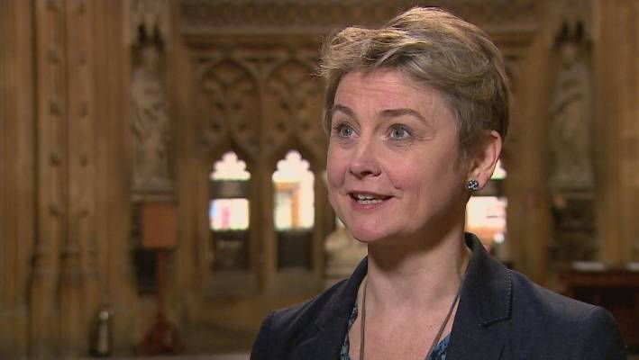 Yvette Cooper is behind a bill which could prevent no-deal