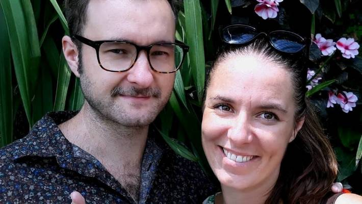 Edward Miller and Rebecca Myrhe based in Malaysia have a wedding the day after the strike.