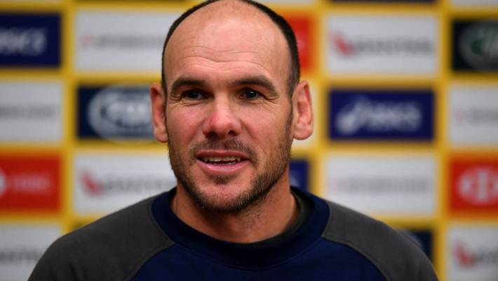Wallabies defence coach Nathan Grey is under pressure to keep his job.