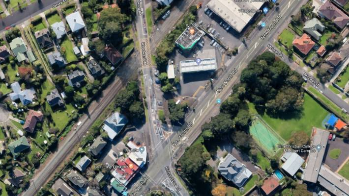 Police are at a railway crossing close to the Mt Albert train station where a person has been hit by a train.