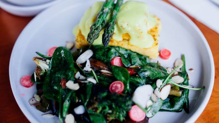 Vegan eggs benedict is actually a thing.