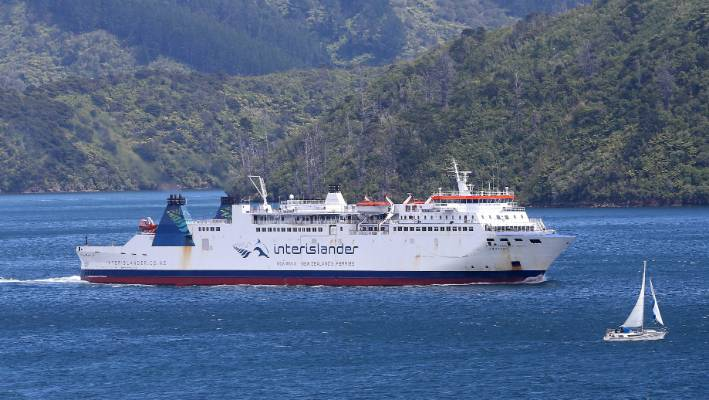 The Aratere, pictured, and the rest of the Interislander ferry fleet will be replaced with two new rail-ready vessels by 2024.