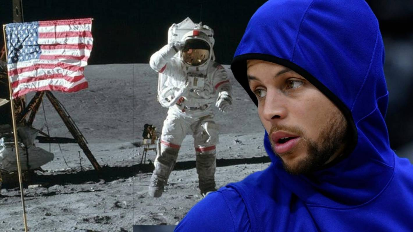 efac246df8ad NBA star Steph Curry is now very sure of the moon landing