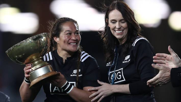 c78e982366ac6 Black Ferns captain Fiao o Faamausili and Prime Minister Jacinda Ardern are  lucky to have