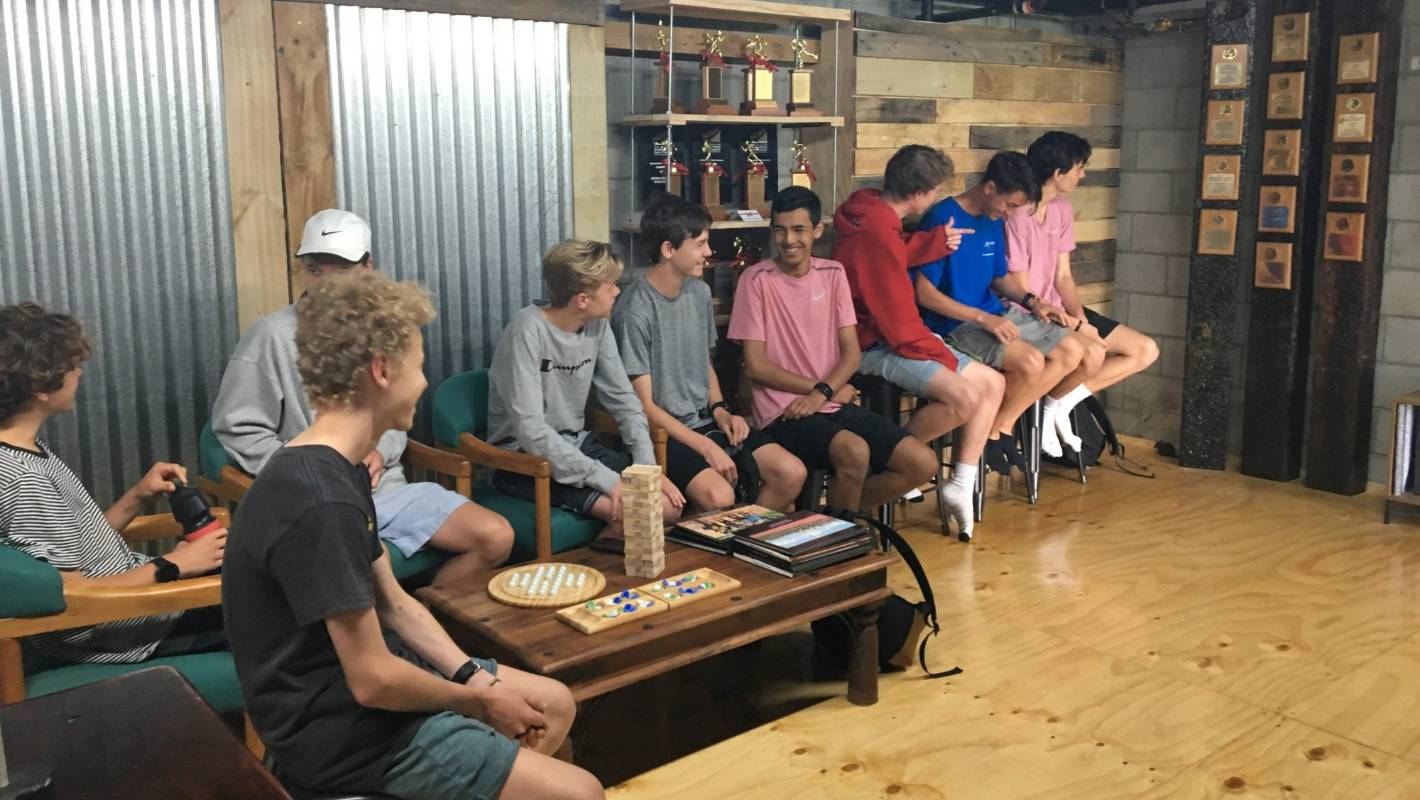 Westlake Boys students build a sports office from construction site waste traded on CivilShare