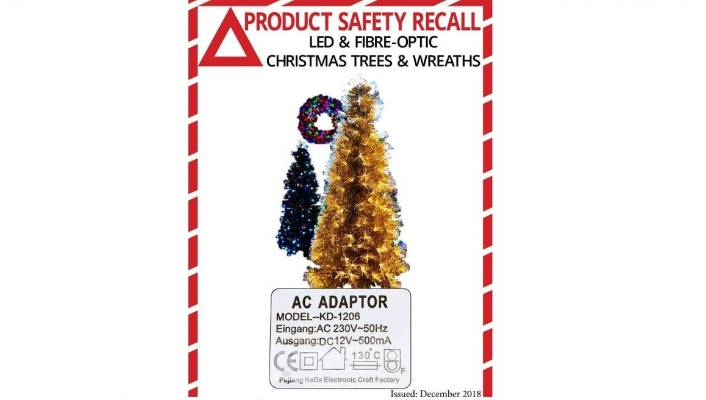 A Very Christmas Recall Fake Christmas Tree At Risk Of Over Heating