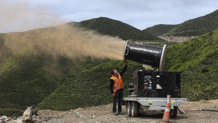 Last year Wellington Airport sprayed gulls with paint at three different Wellington landfills to track where they were coming from.
