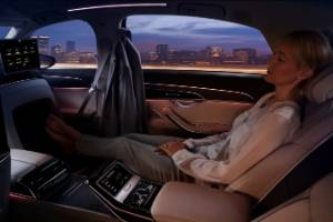 An example of the level three technology which Audi's A8 vehicle is capable of, where the car requires no driver ...