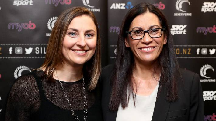 new arrival 3adfb 2c0d9 Netball New Zealand chief executive Jennie Wyllie, left, and Silver Ferns  coach Noeline Taurua
