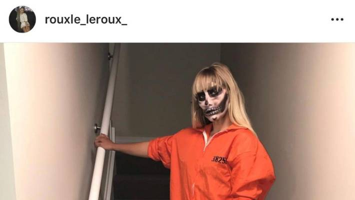 """In November, Le Roux was criticised for this photo she posted on her Instagram with the caption """"hide your children""""."""