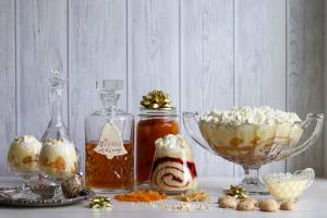 An apricot amaretti trifle prepared by Lynda Hallinan as part of her campaign to prove the pudding's superiority over ...