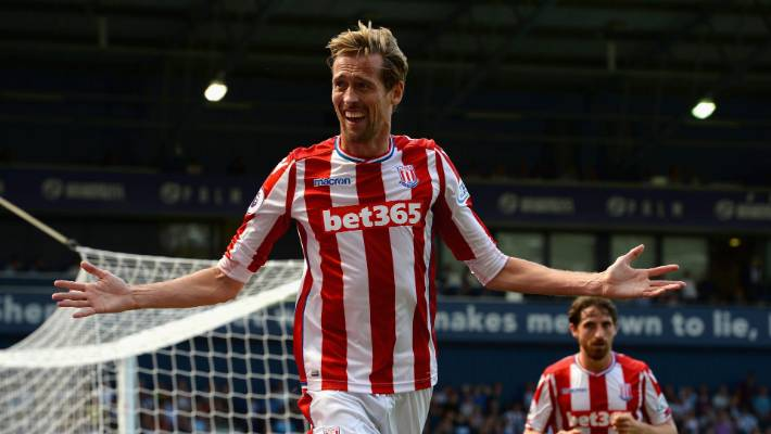 Peter Crouch left Stoke City to join All White striker Chris Wood in EPL Burnley's fights.