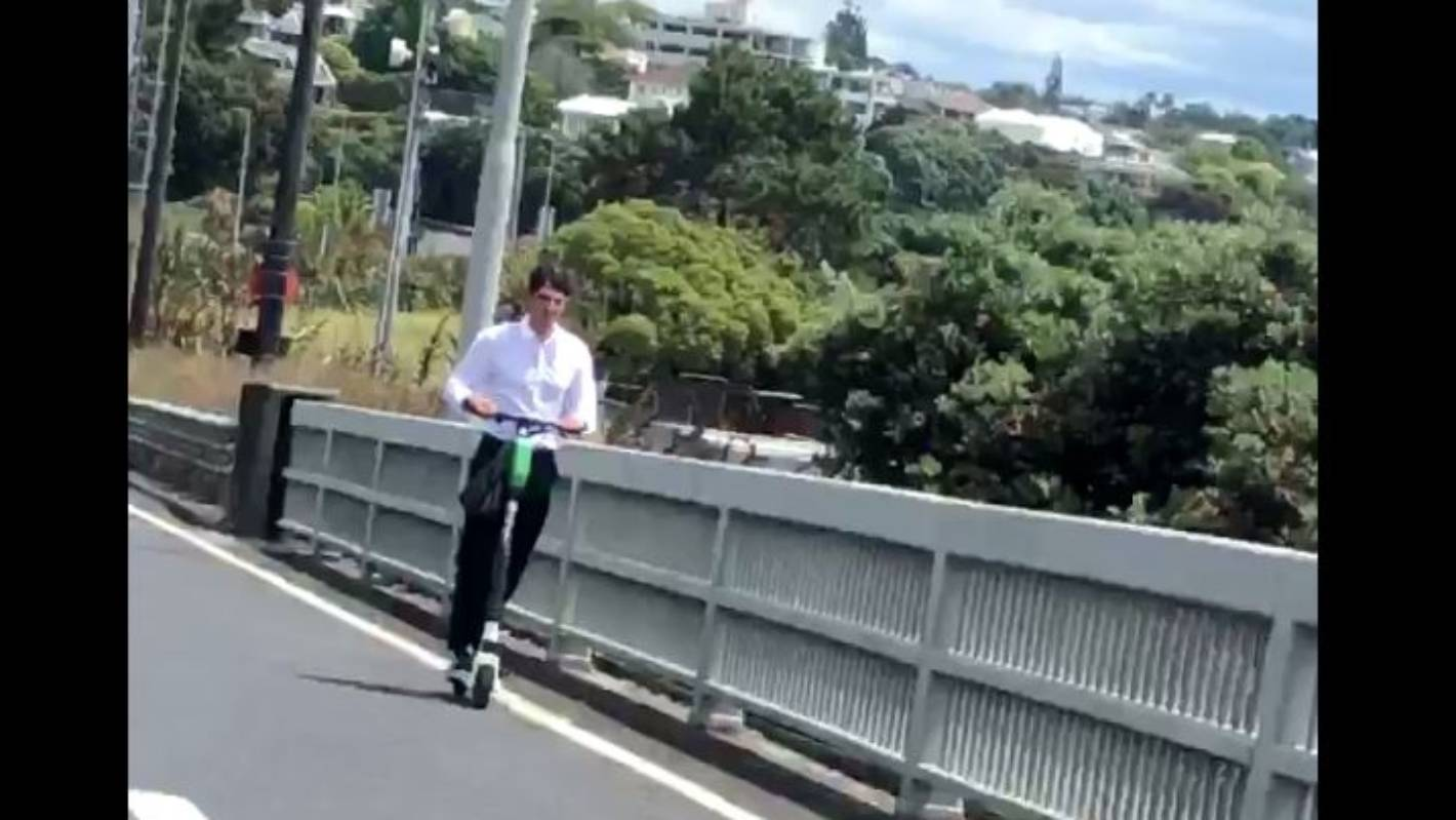 Man caught illegally riding a Lime scooter across Auckland Harbour Bridge
