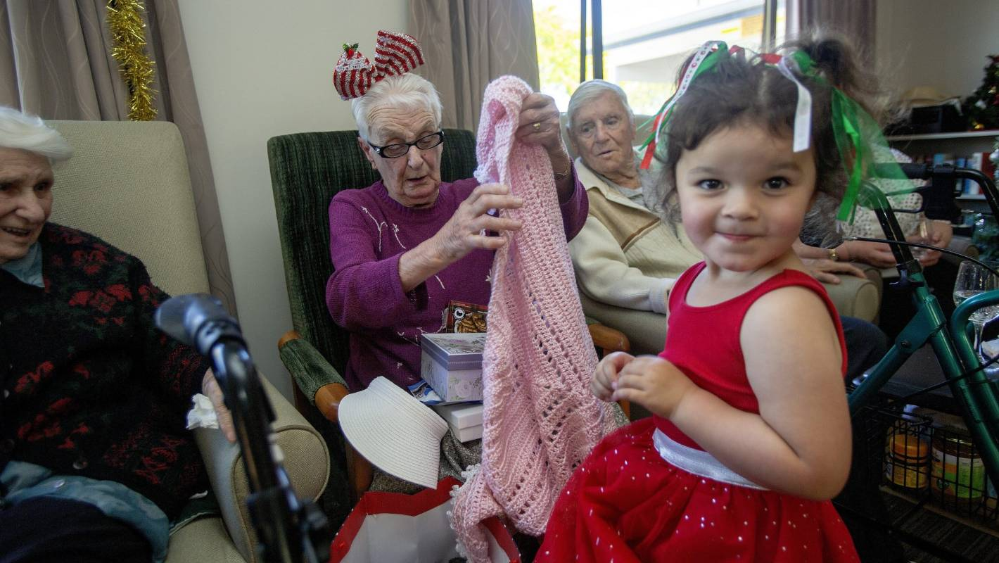 Youngsters adopt a senior for Christmas party