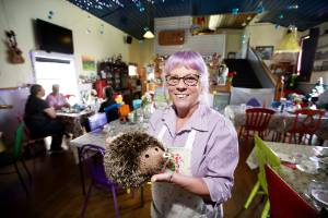 Joanne Watson's home is colourful and bright - it's also a café.