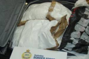 A total of 72.6kg of cocaine was found in four suitcases in the two cabins.