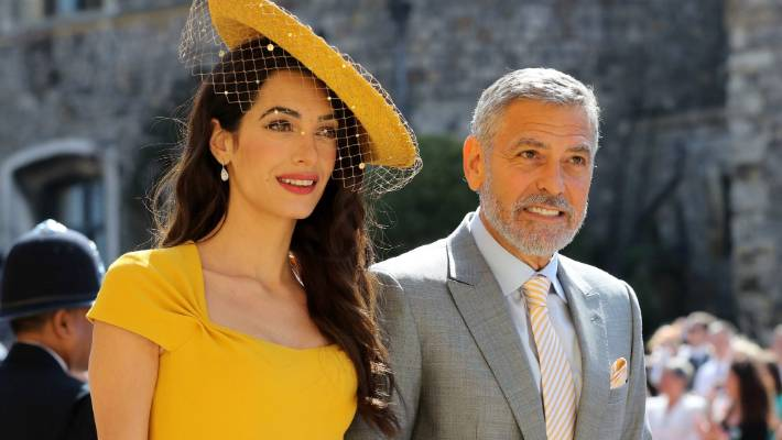 Amal Clooney and George Clooney attended Prince Harry's wedding with Megan Mark.