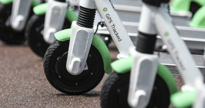16102018 : Chris Skelton/STUFF E-scooter company Lime launches in New Zealand. Six hundred e-scooters are scattered ...