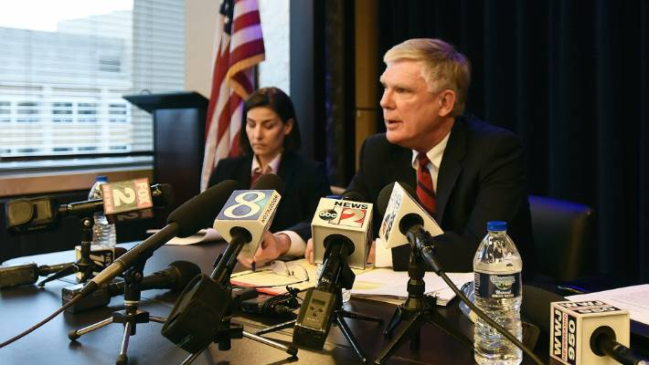 Special counsel Bill Forsyth, right, accused Michigan State University of hampering his investigation