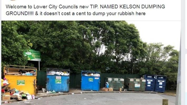 Kelson locals are unhappy about the state of their recycling station.