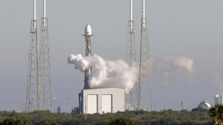 The Falcon 9 SpaceX rocket prepares for launch on December 23 (NZT December 24).