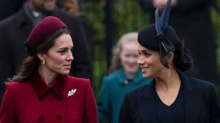 Meghan Markle's Christmas curtsy to the Queen one year later
