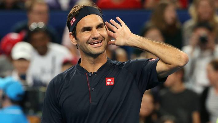 Roger Federer wins match against fellow tennis legend Serena Williams