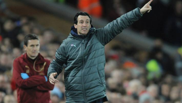 Arsenal's Unai Emery fined for kicking bottle at Brighton fan