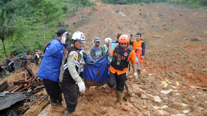 Landslide in West Java, Indonesia, leaves nine dead and dozens missing