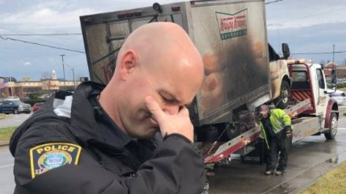 Local police mourn the loss of Krispy Kreme truck