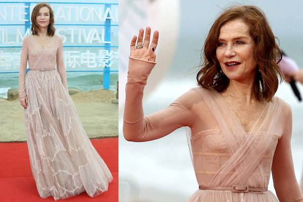THE GOOD: Perhaps easier to love is Isabelle Huppert in Christian Dior Haute Couture. This is some straightforward dreaminess. I feel like I can hear the clinking of Champagne glasses and some soft Edith Piaf while looking at these pictures. Very French, very timeless. The crossover bodice and the skinny belt are particularly neat details.