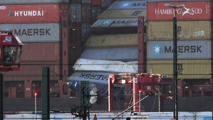 Search is on for containers lost off Dutch coast by ship