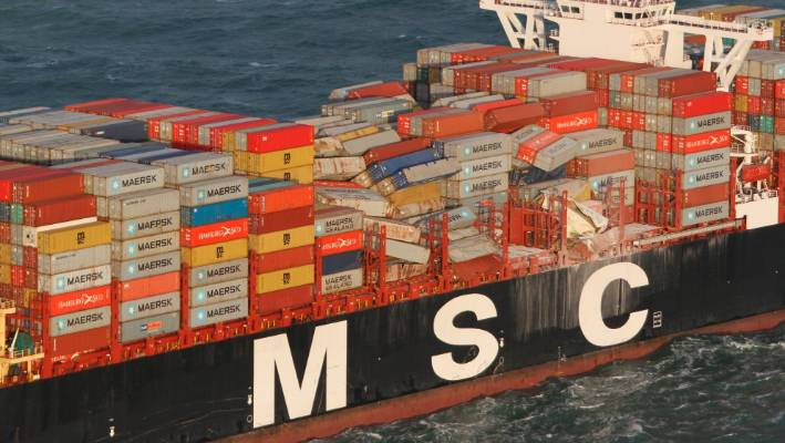 Dutch islanders strike gold after cargo ship's lost containers wash ashore