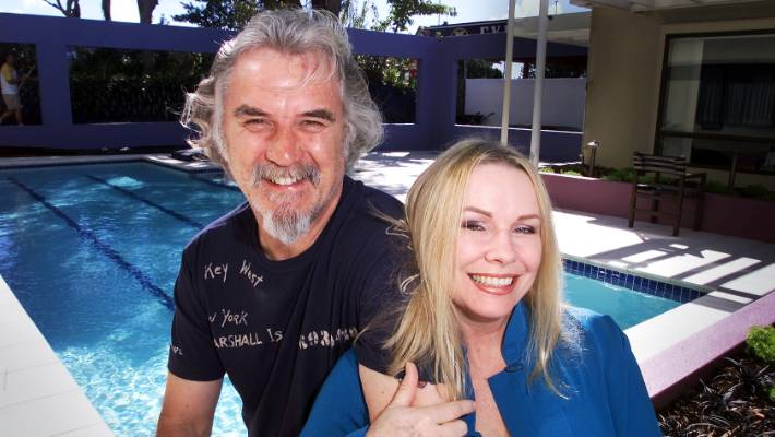 Pamela Stevenson and Billy Connolly in New Plymouth during the filming of The Last Samurai.