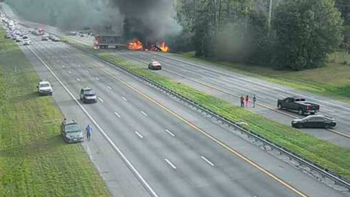 Woman gives birth hours after being injured in fiery I-75 crash